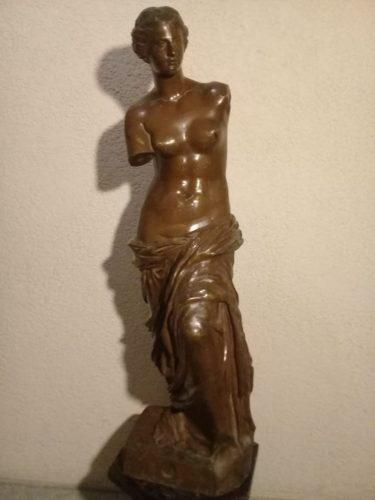 Antigua escultura estatua venus de milo. bronce. 87c. paris
