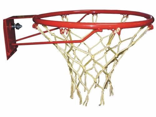 Aro de basquet profesional sistema volcada resorte c/ red
