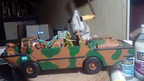 Tanque anfibio var larc 5 (malvinas) para imprimir 3d
