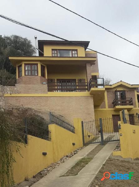 Chalet más depto en barrio villa del lago hermosa vista al lago