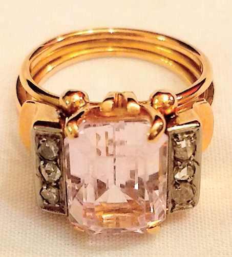Antiguo e imponente anillo art decó