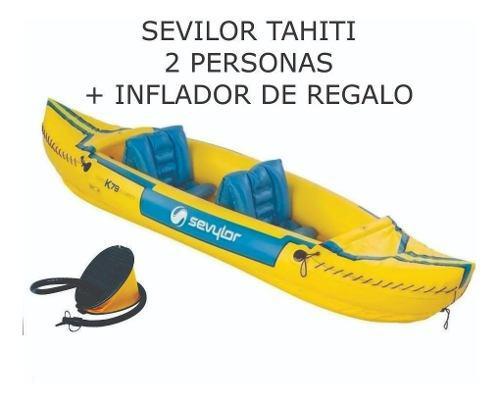 Kayak canoa inflable sevilor tahiti doble 2 personas