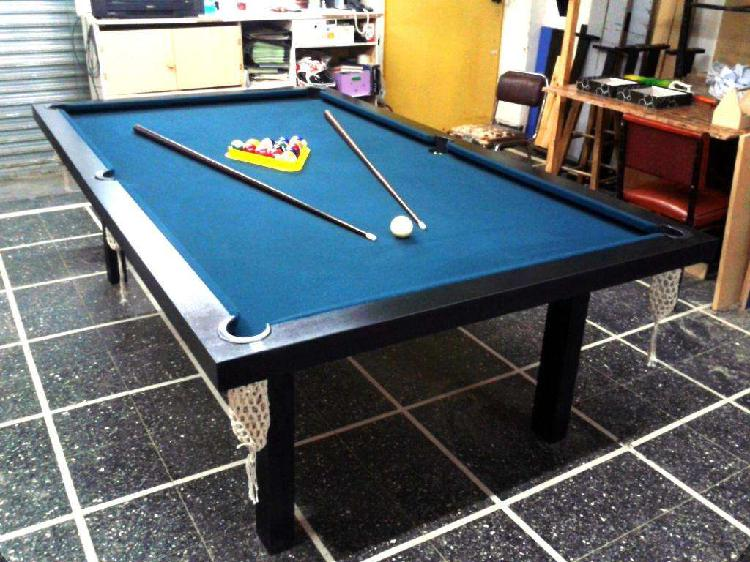 Mesa de pool profesional 2,40x1,40mts, mdf deportes brienza