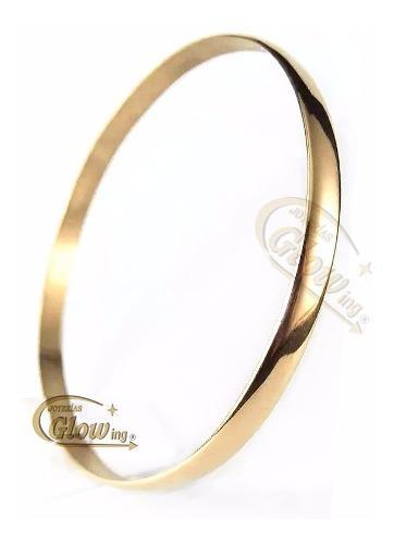 Pulsera esclava maciza de oro 18k 7gr garantía promo 10%