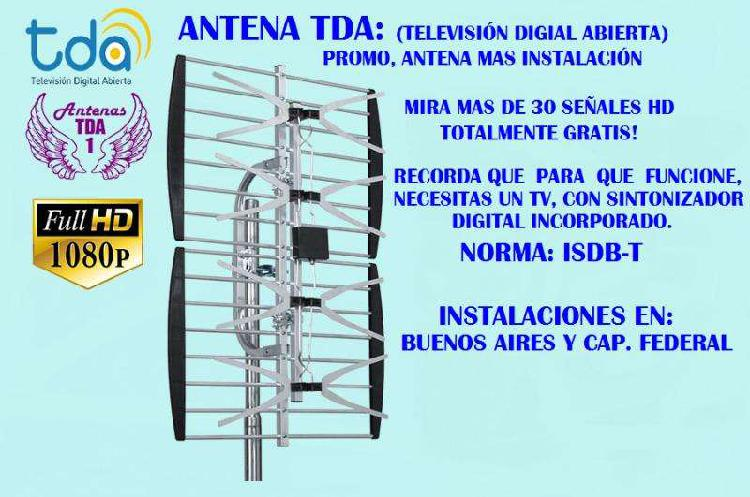 Antena tdt tda digital full hd instalaciones