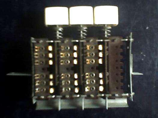 Botonera combinada de 3 botones doble inversora audiomax