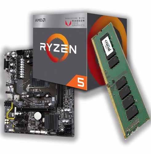 Combo kit actualizacion amd ryzen 5 3400g + a320 + 8gb ddr4