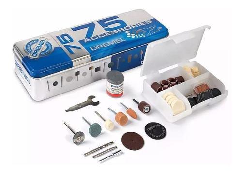 Kit set accesorios minitorno 707 dremel 3000 4000 75 piezas