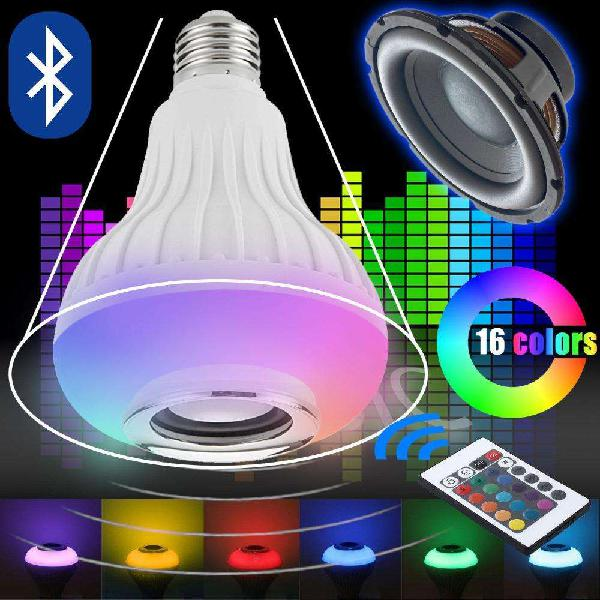 Lámpara parlante bluetooth luz full rgb color control