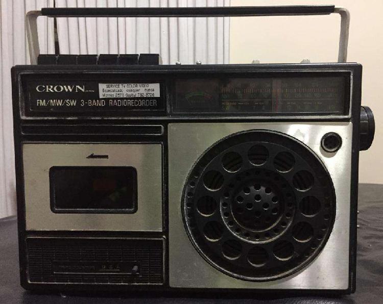 Radio crown am fm y cassetera