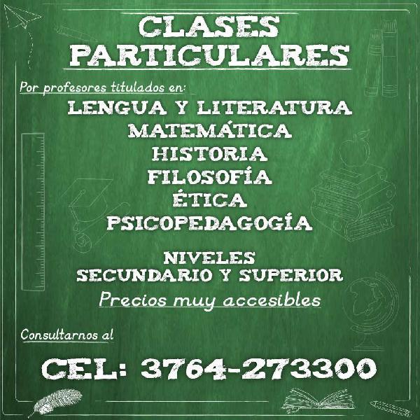 Clases particulares - Tutorias - Trabajos Prácticos -