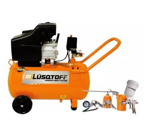 Compresor de aire 2,5 hp 50 litros + kit 5 pda garant 2 año