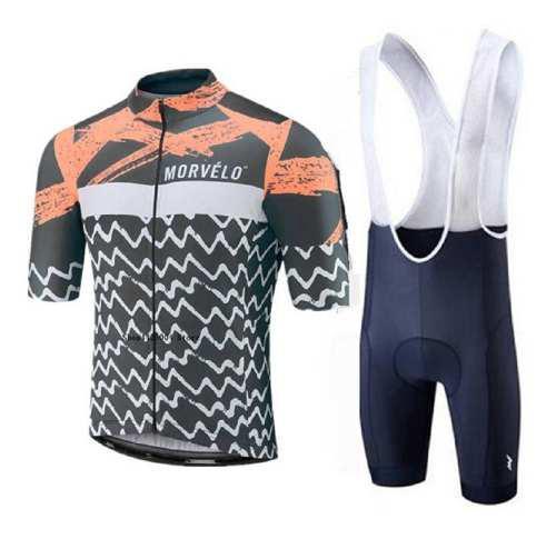 Conjunto de ciclismo morvelo palm beach + calza c/gel