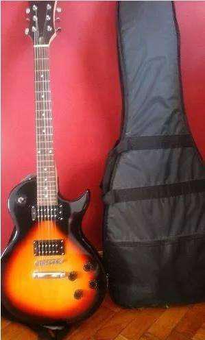 Guitarra eléct. hallen, les paul ampli acces.