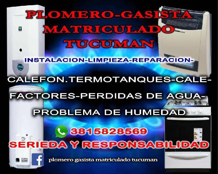 Plomero gasista matriculado tucuman