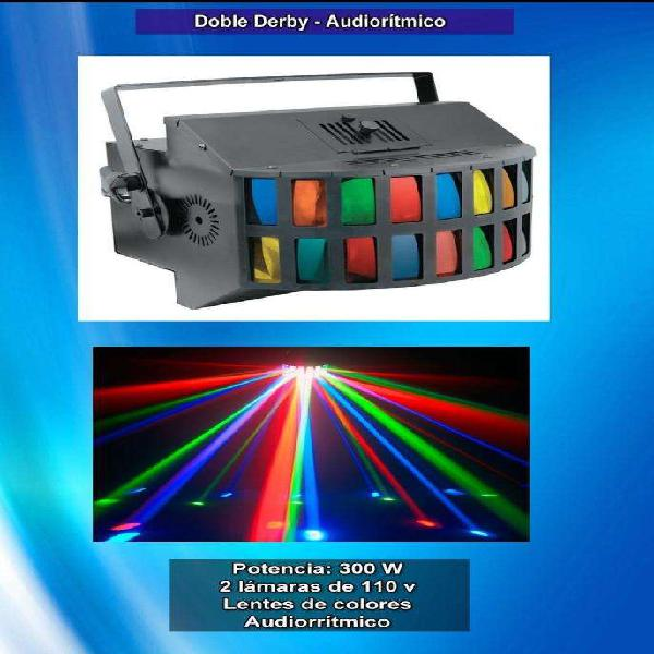 Efecto luces audioritmicas doble derby