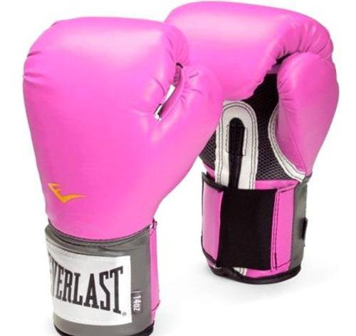 Guantes boxeo everlast mujer rosa pro style prostyle kick