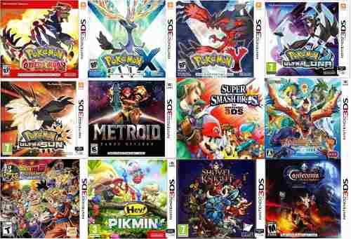 Juegos 3ds digitales pokemon, zelda,mario kirby y mas!