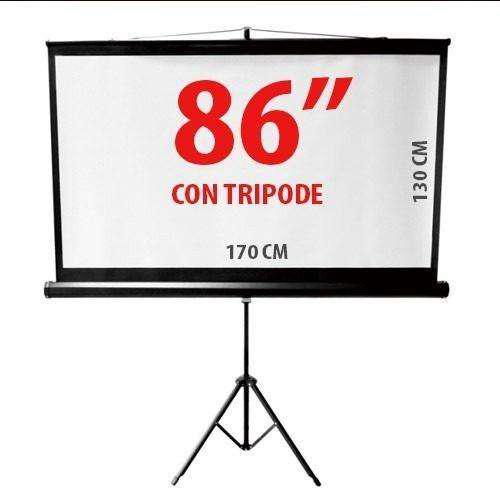 Pantalla proyector 86 con tripode