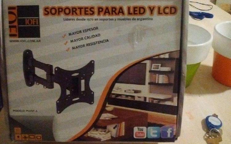 Soporte móvil para led y lcd iofi modelo plusp-4 - la plata