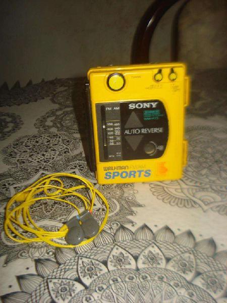 Walkman sony sport wmf73 am/fm c/auriculares unico no envio