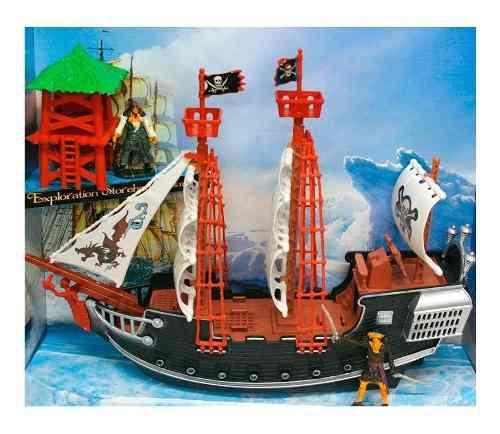 Barco pirata grande coleccionable con accesorios 38 cm 15997