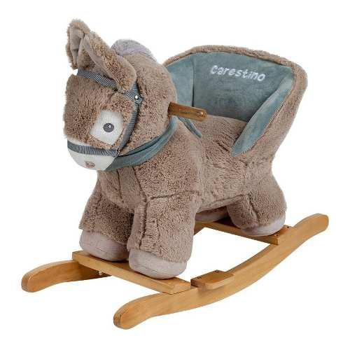 Mecedor de peluche carestino burro gris oscuro