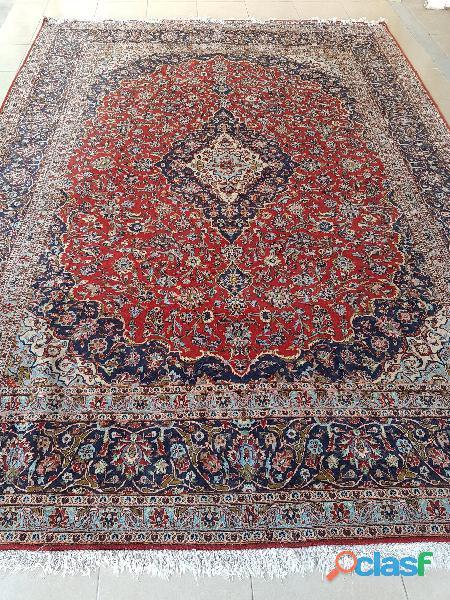 Alfombra persa kashan bazhars 2.96 x 4.12m