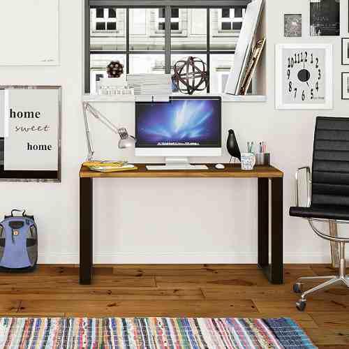 Escritorio mesa industrial madera hierro 120x60cm