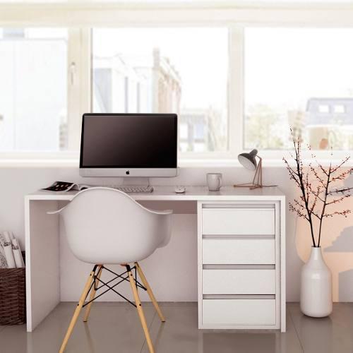 Escritorio oficina hogar moderno minimalista 120x75 armado