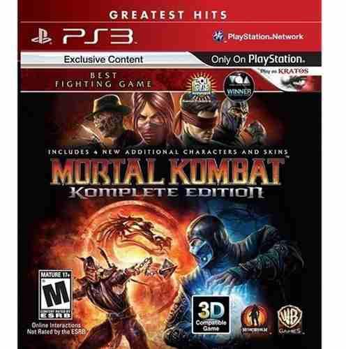 Mortal kombat komplete edition ps3 juego cd original físico