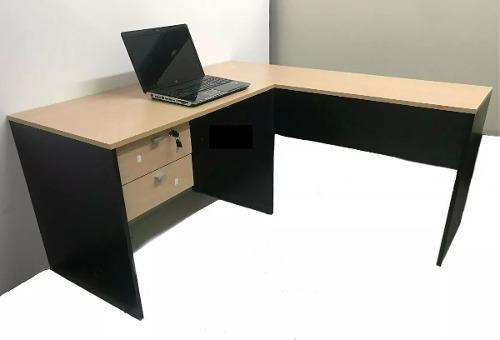 Puesto de trabajo platinum escritorio + esquinero + mesa pc