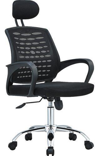 Sillon escritorio pc linea nueva c/apoya cabeza negro j818a