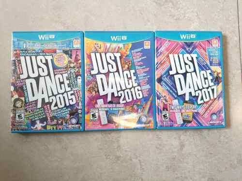 Wii u combo 3 juegos just dance (usados)