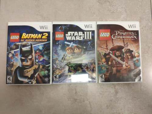 Wii / wii u combo 3 juegos lego (usados)