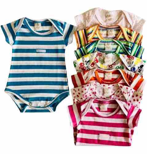 Bodies X 3 Unidades, Baby Ginos, 100% Algodon Pima
