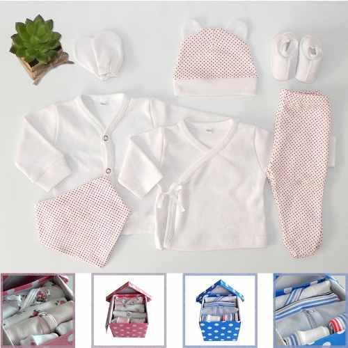 Caja nº8 ajuar bebé nacimiento de 7 prendas babyshower