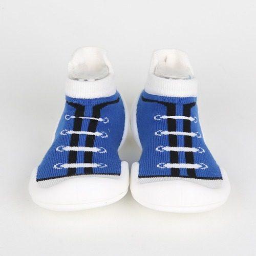 Calzado Para Bebés - Zapamedias Canvas Azul