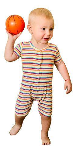 Enteritos M/c X 6 Variedad Baby Ginos, 100% Algodon Pima