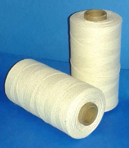 Hilo algodón de 3 hb 1mm 250gs tejer crudo nat. artesanias