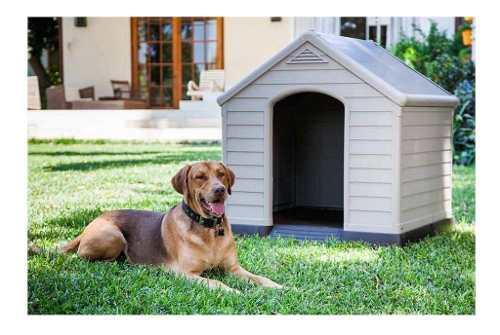 Casa para perro resina 95x99x99cm envio gratis