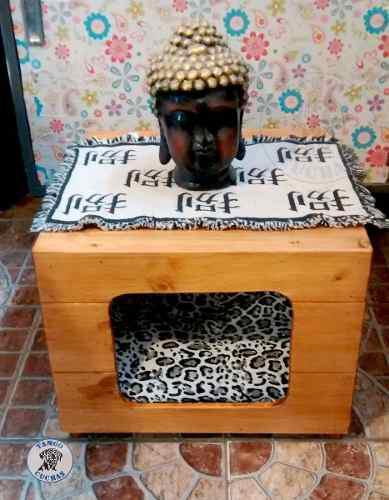 Cucha interna para mascotas pequeñas y decoración