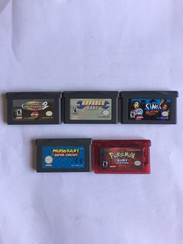 Lot 4 juegos gameboy advance originales con caja protectora