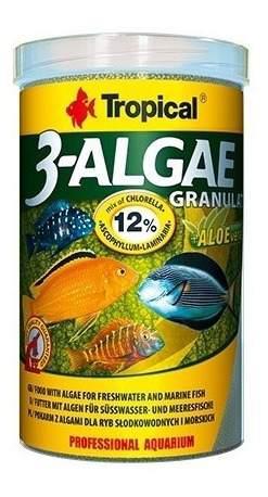 Alimento para peces tropical 3 algae granulado 440g peces