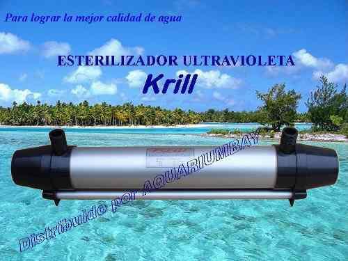 Filtro esterilizador uv 15w para acuarios y estanques