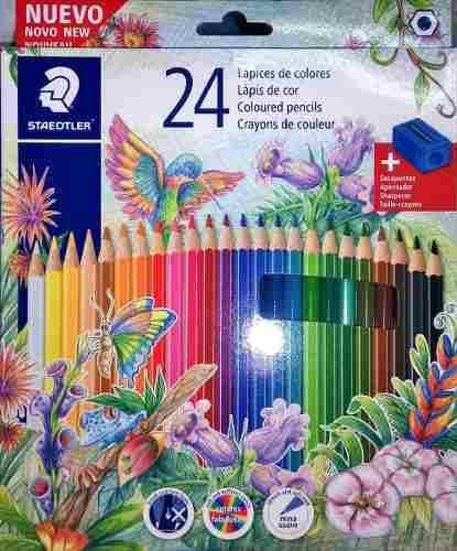 Lapices staedtler en estuche x 24 colores local microcentro