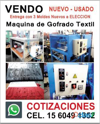 Maquina de gofrado textil