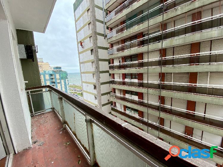 Venta monoambiente c/balcón y cochera vista al mar 3