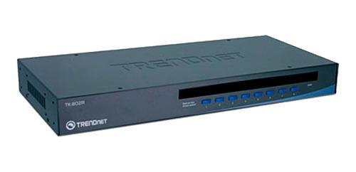 Conmutador kvm trendnet 8 puertos tk-802r ps2 vga osd rack