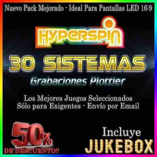 Hyperspin mame base + las 29 expansiones - envío digital